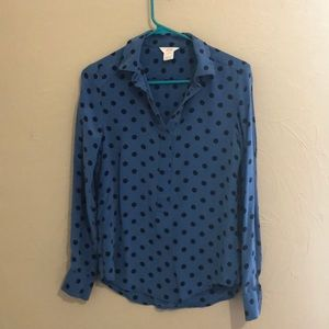 Joe fresh polka dot blouse